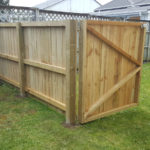 Custom built fence and gate for play centre